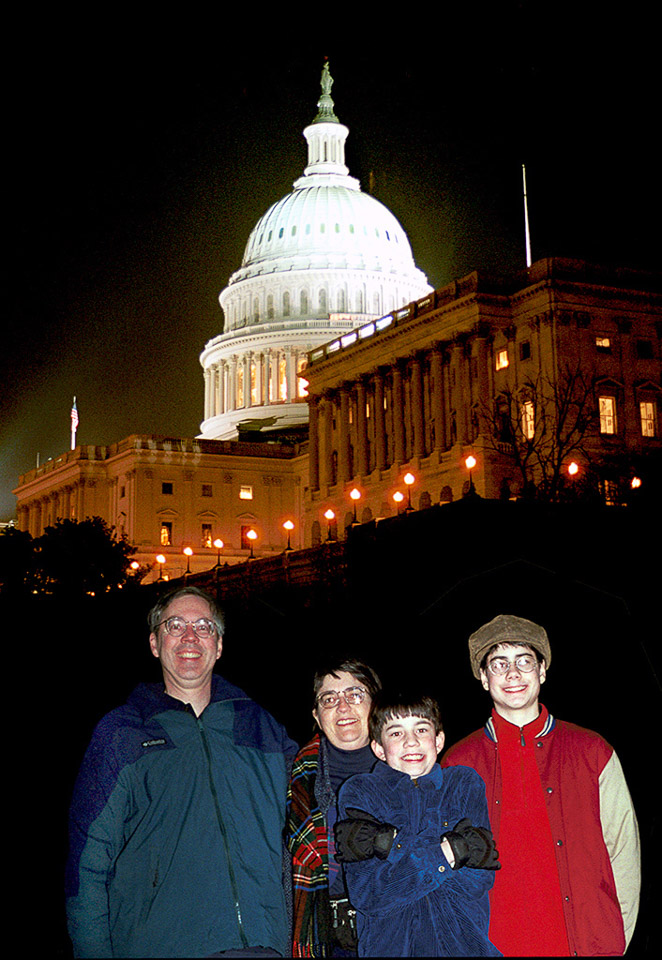 1999-12-31 New Year's Eve at the Capitol. Richard, Catherine, Michael and Conrad