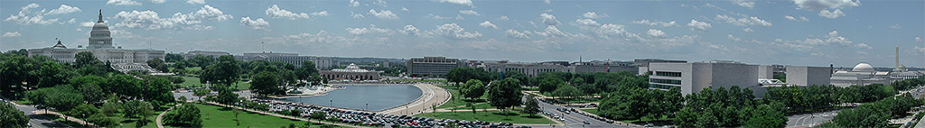 2000-06-23 National Mall Panorama from the Roof of the U.S. Department of Labor