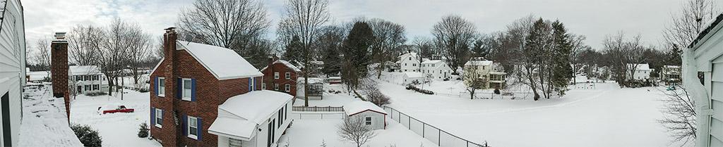 2003-02-18 Roof-top View Westward of Our Neighborhood Under Snow
