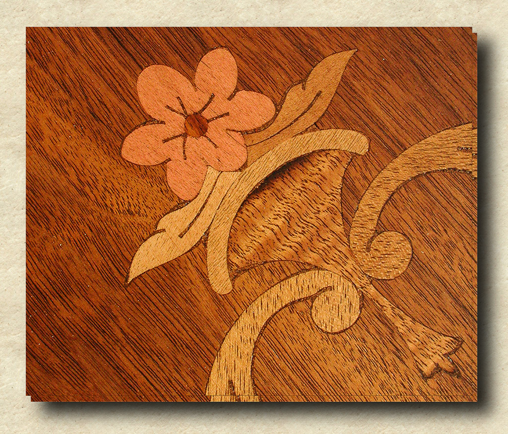 2004-12-04 Detail of Coffee Table Inlay After Restoration