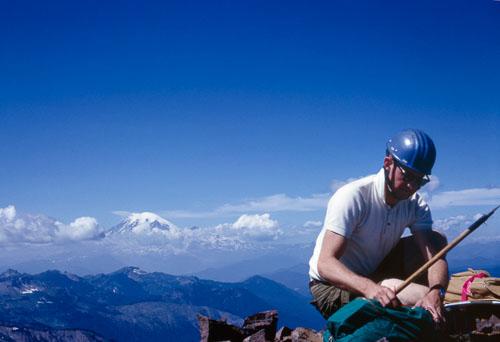 1966-08-00_s32-Clark-Thompson-summit-Tieton-Peak-Mt-Rainier-in-background.jpg
